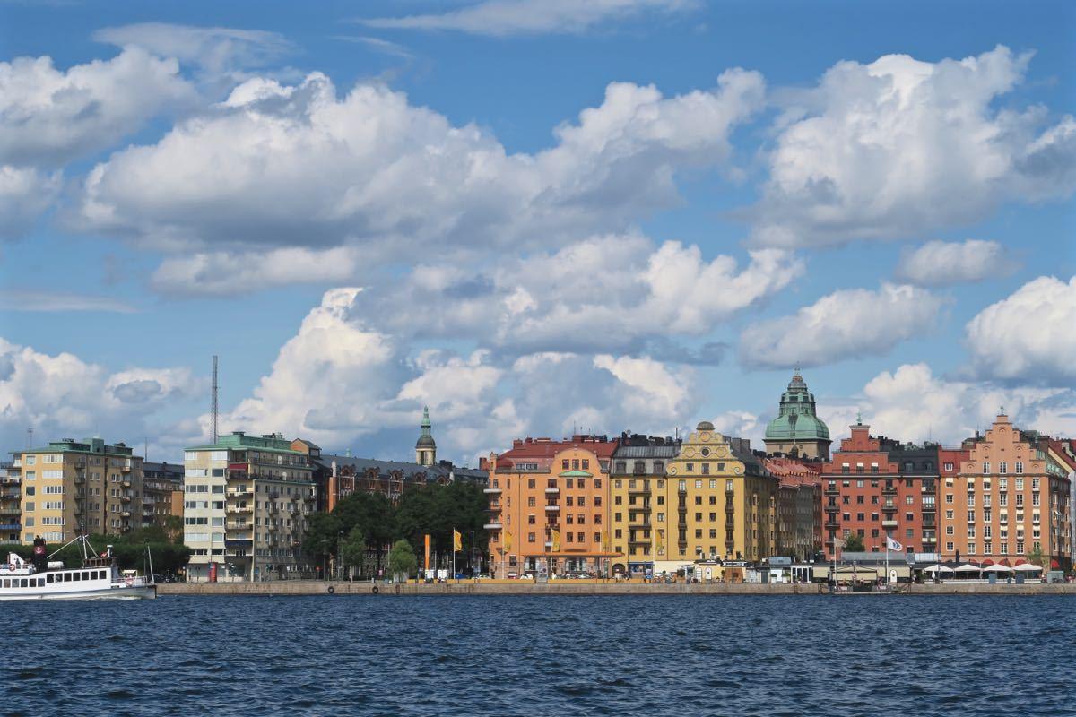 Norr Malarstrand - lungo mare di Kungsholmen, cielo e nuvole  (20167-Kungsholmen.jpg) MANTGR